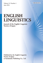 English Linguistics Vol. 31, No. 1
